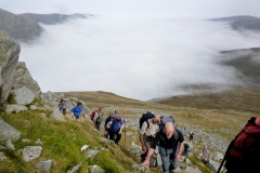 Above the clouds on the Clisham Horseshoe 2014