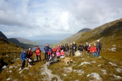 Top of Glen Cravadale on the Community Walk 2014