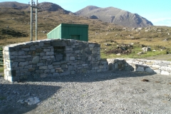 Car parking and walling at Meavaig North