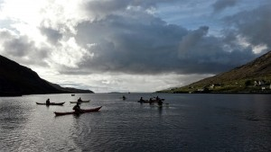 Perfect conditions for the Sea Kayaking in West Loch Tarbert