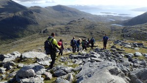Best walk of the week! Coming down from Tiorga Mor (Thanks to Katie Dixon for the image)